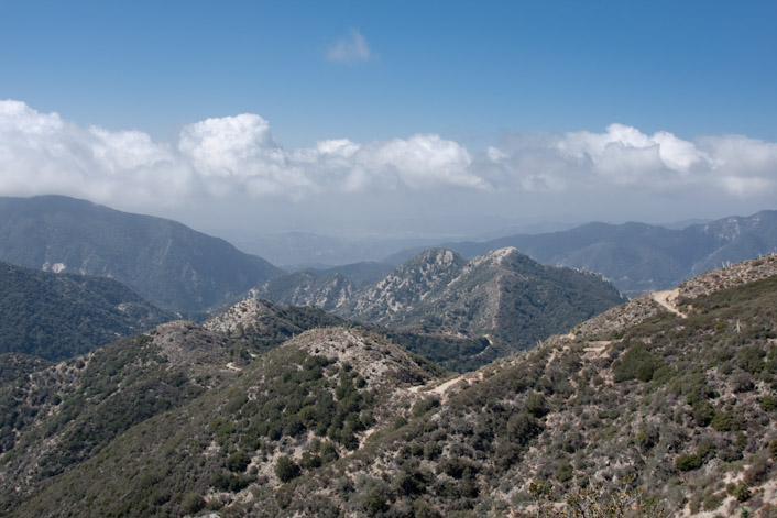 Angeles National Forest as seen from Josephine Peak