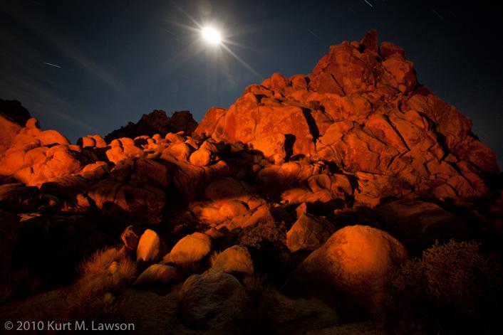 Firelight and the half moon