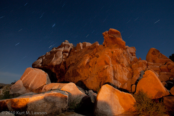 Red rocks and star trails I