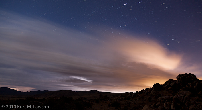 Thunderstorm and Star Trails at Joshua Tree