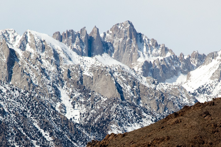 Mount Whitney viewed from Lone Pine in March 2010