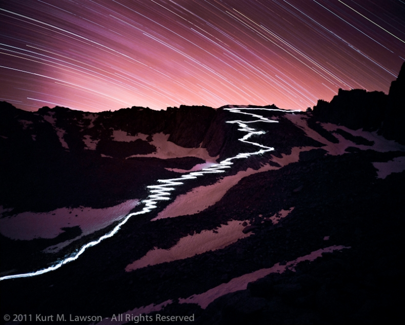 The 97 Switchbacks at Night
