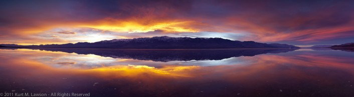 """WOW"" - An incredible sunset in a flooded Badwater"