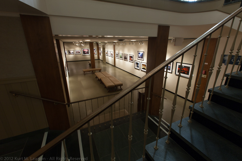 Gallery view from the stairs