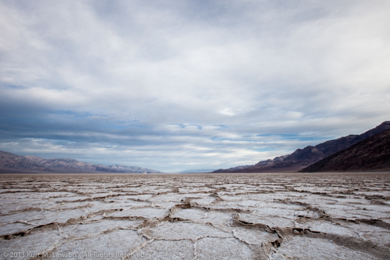 A northern view at Badwater, March 2013