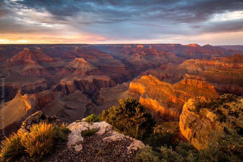 Sunset at Hopi Point in the Grand Canyon