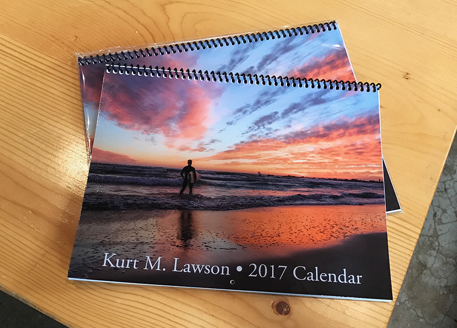 2017 Calendars on a table